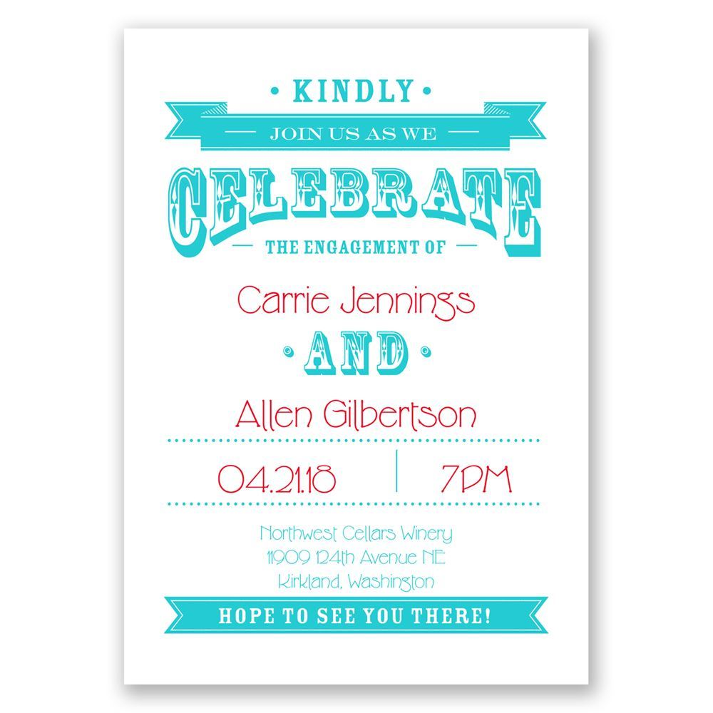 Kindly Join Us Engagement Party Invitation | Invitations By Dawn