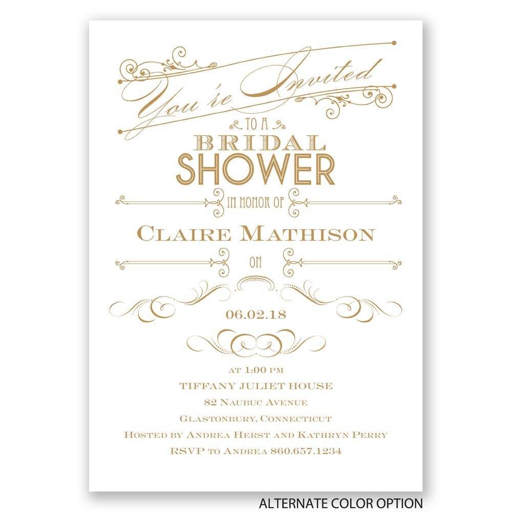 Elegant intro bridal shower invitation invitations by dawn for Elegant bridal shower invitations