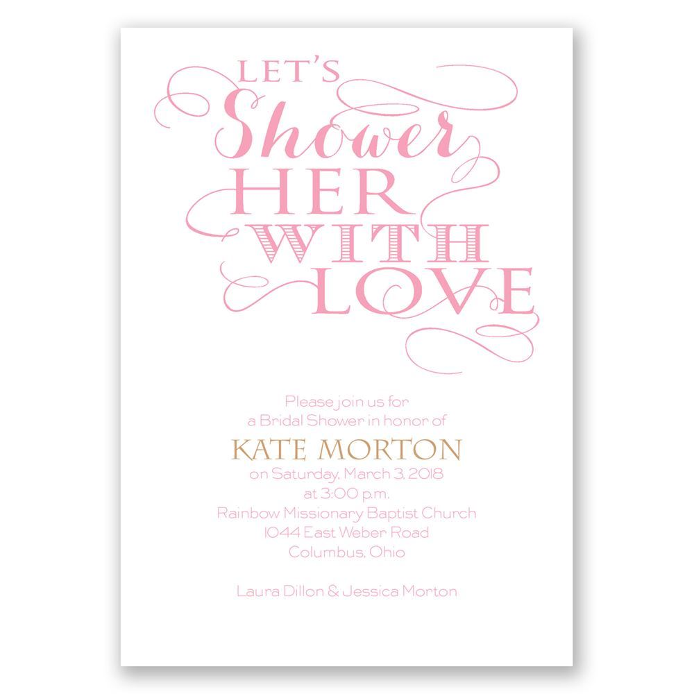 With Love Bridal Shower Invitation   Invitations By Dawn