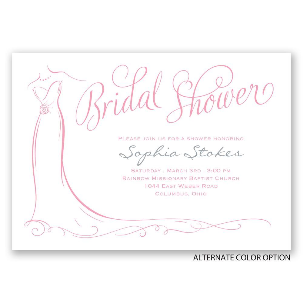 elegant bride bridal shower invitation invitations by dawn