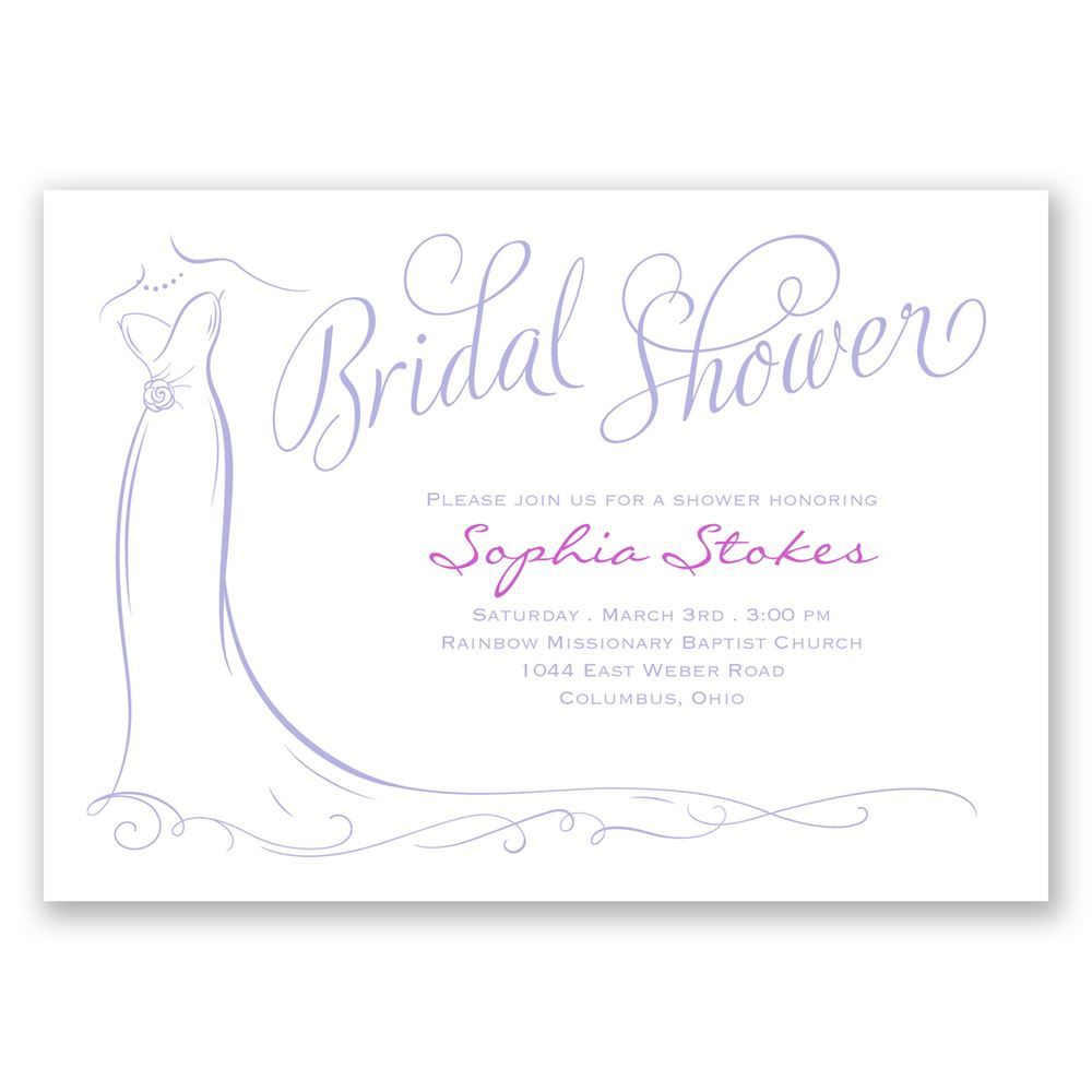 Elegant bride bridal shower invitation invitations by dawn for Invitations for wedding shower