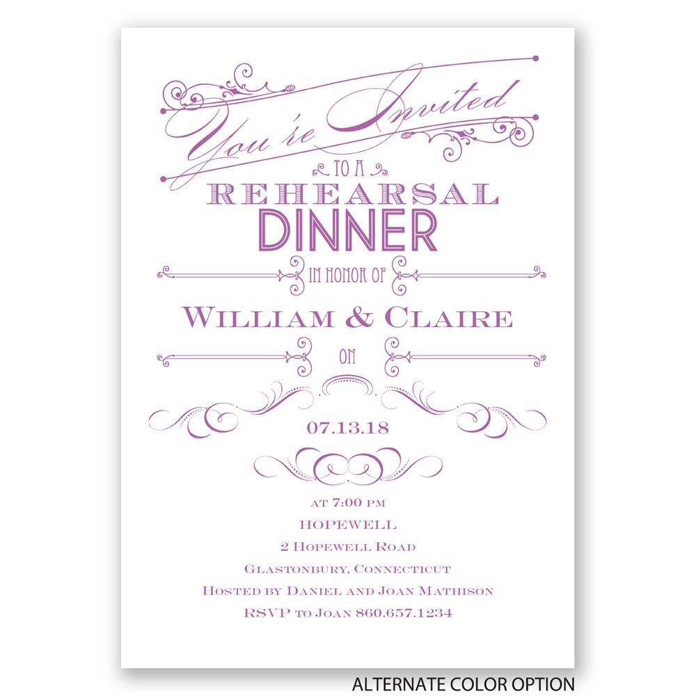 elegant intro rehearsal dinner invitation invitations by
