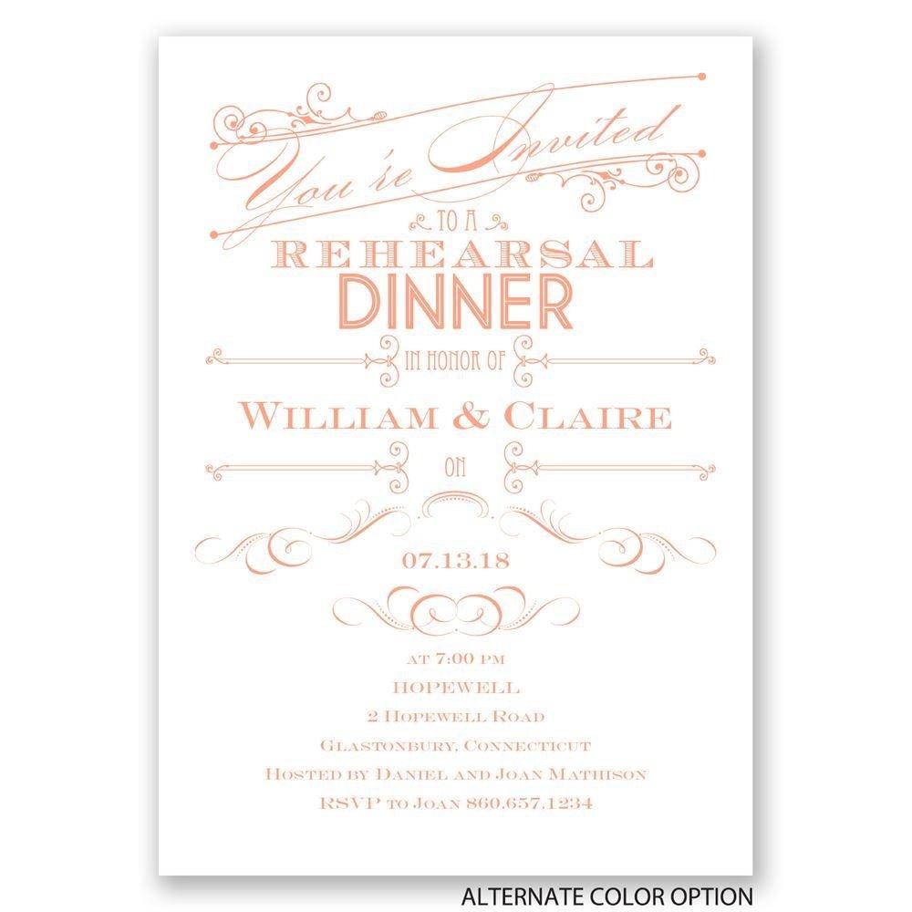 Elegant Intro Rehearsal Dinner Invitation Invitations By Dawn