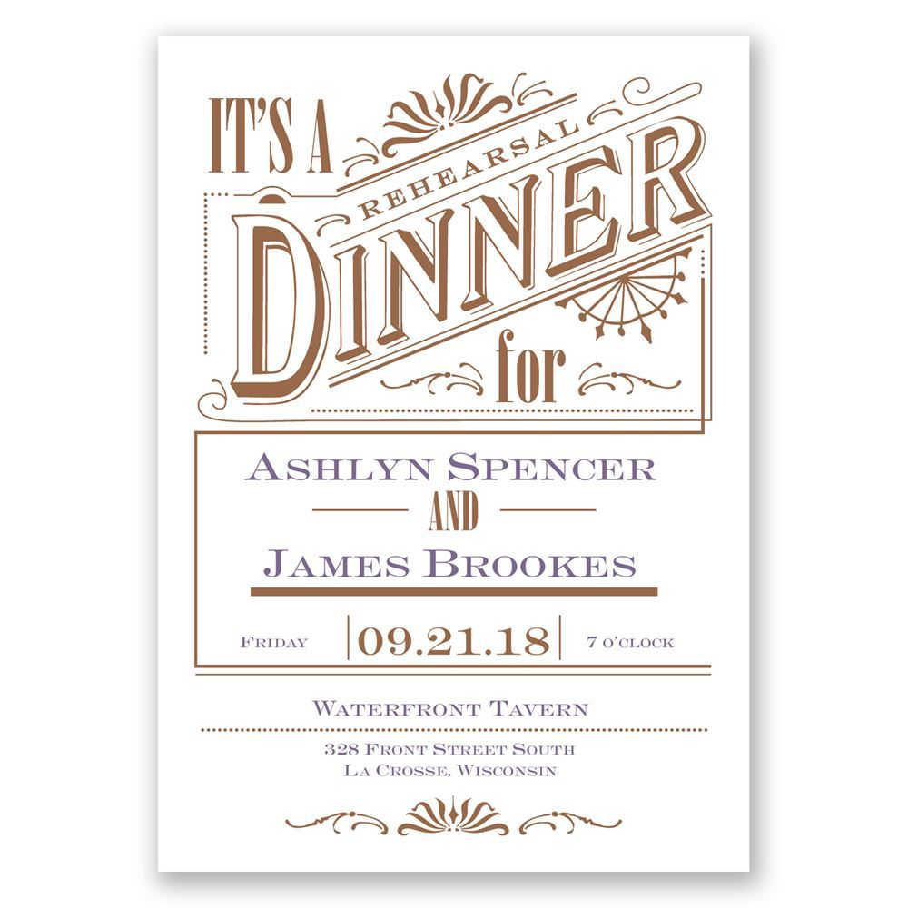 Vintage Charm Rehearsal Dinner Invitation | Invitations By ...