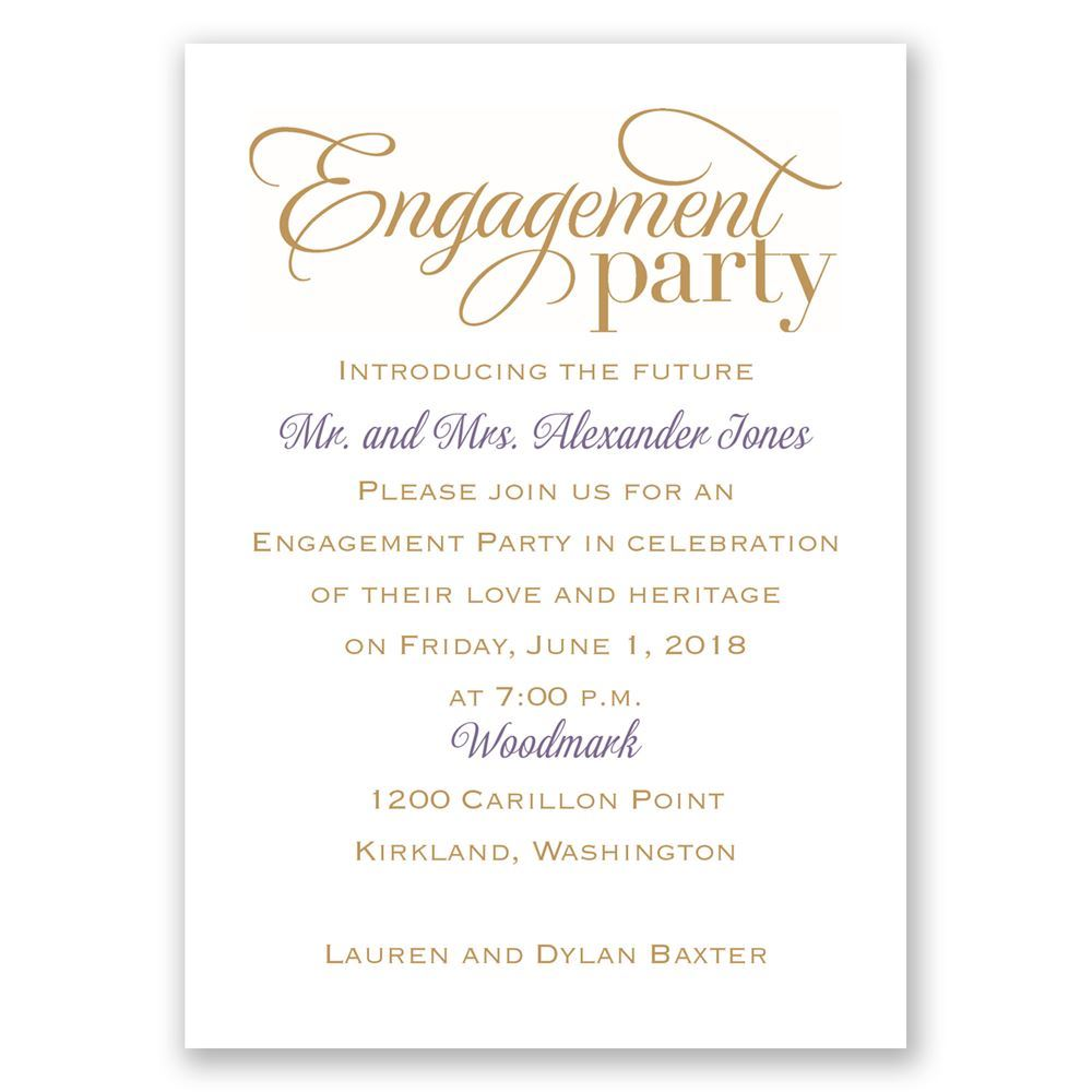 Classic Style Mini Engagement Party Invitation | Invitations By Dawn