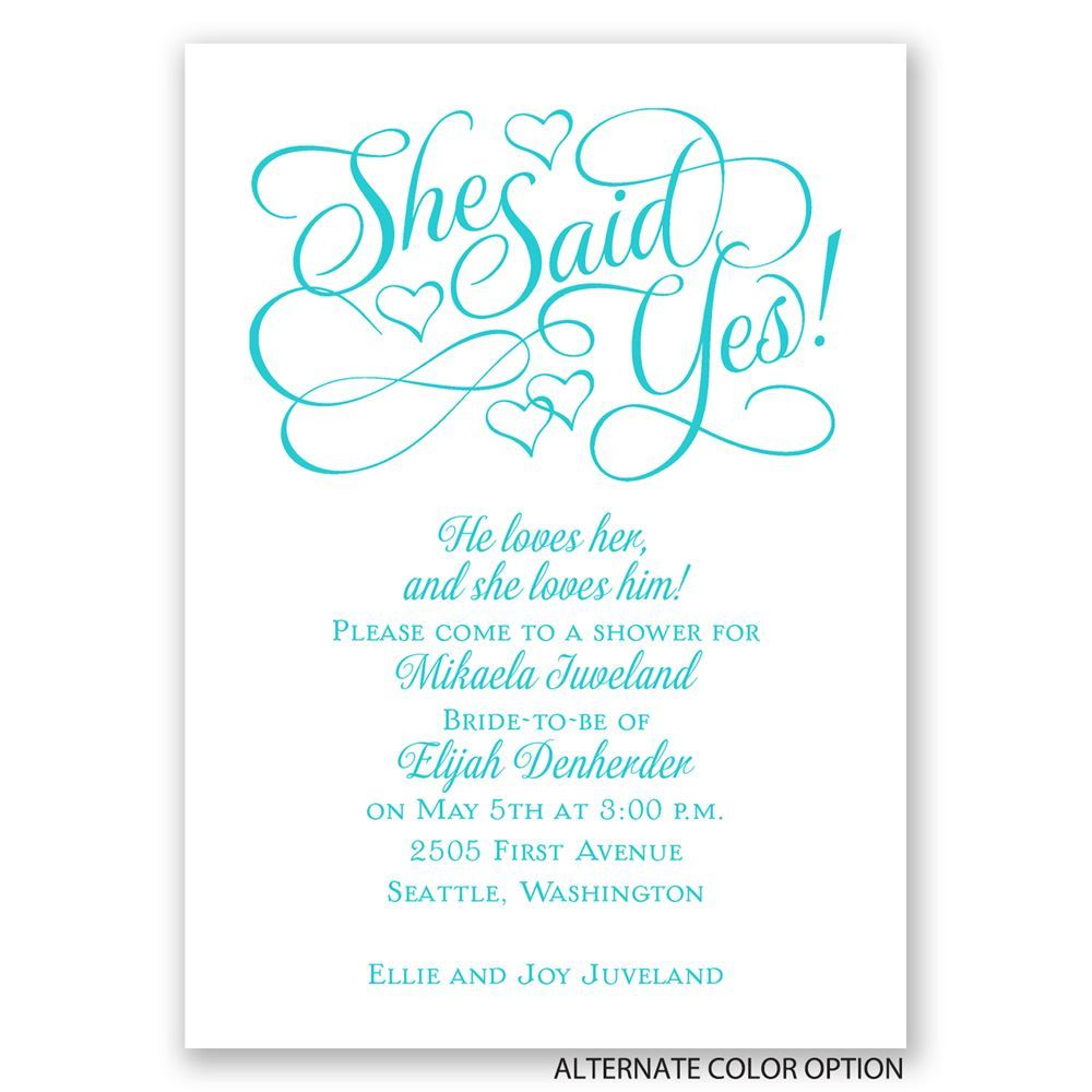 Floating Hearts Mini Bridal Shower Invitation – Sample of Bridal Shower Invitation