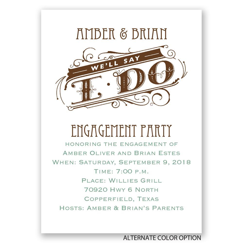 We\'ll Say I Do Mini Engagement Party Invitation | Invitations By Dawn