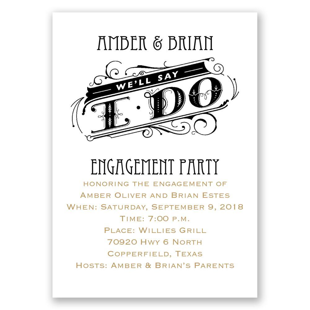 Invitations By Dawn  How To Word Engagement Party Invitations