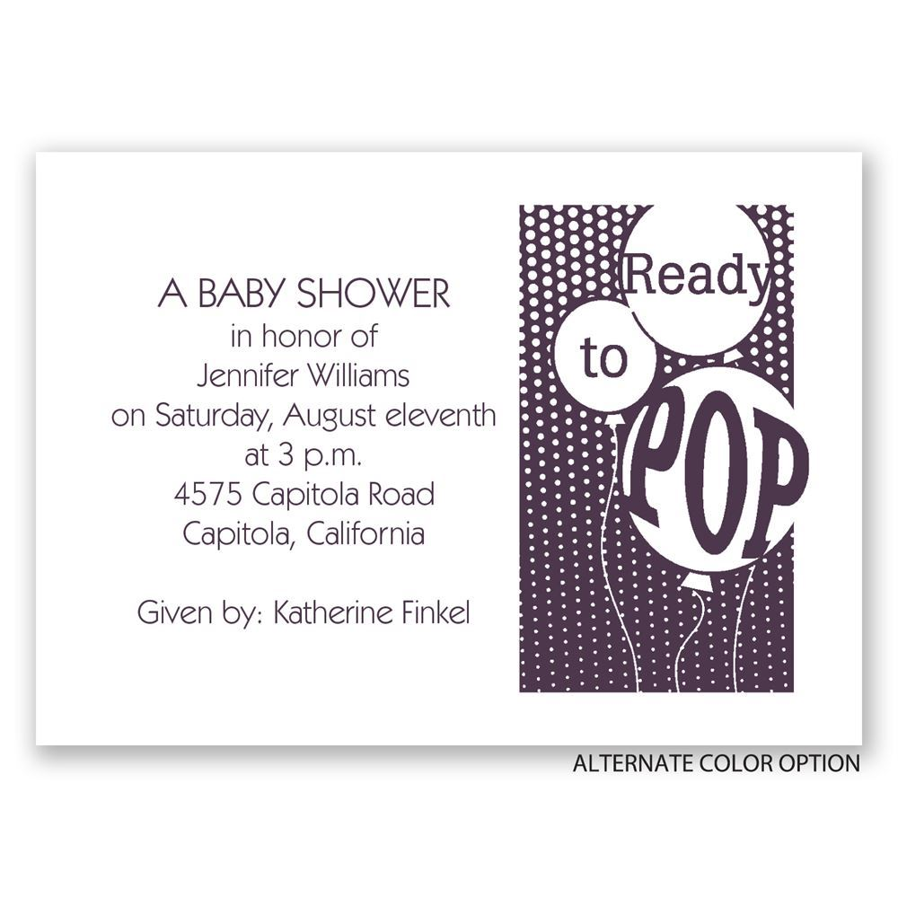 ready to pop mini baby shower invitation invitations by dawn