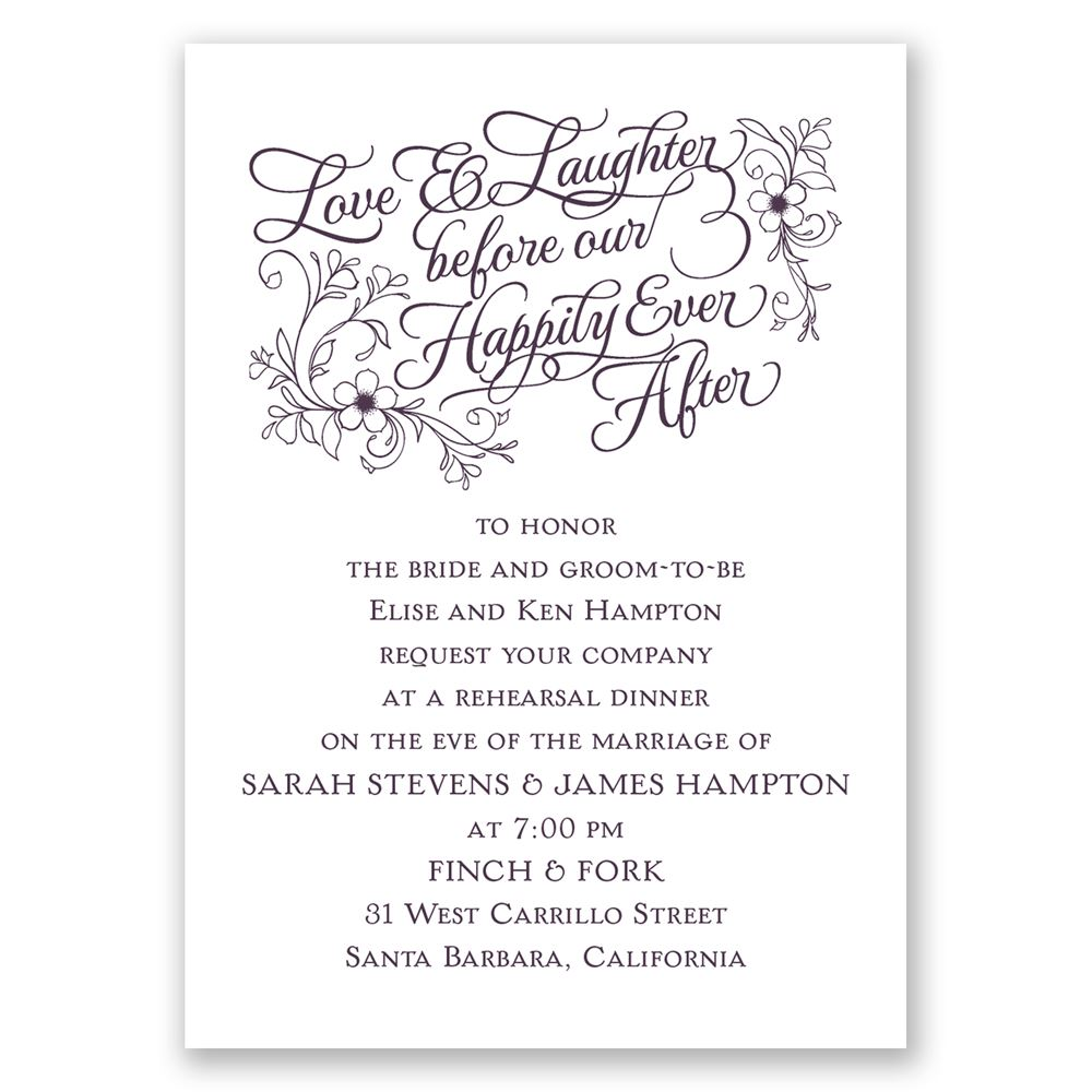 Love Laughter Mini Rehearsal Dinner Invitation Invitations By Dawn