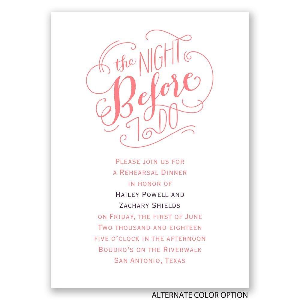 the night before mini rehearsal dinner invitation