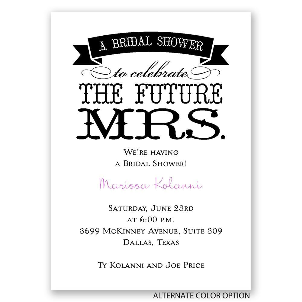 The Future Mrs. Mini Bridal Shower Invitation | Invitations By Dawn