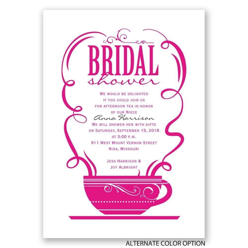 Coffee Talk Bridal Shower Invitation   Invitations By Dawn