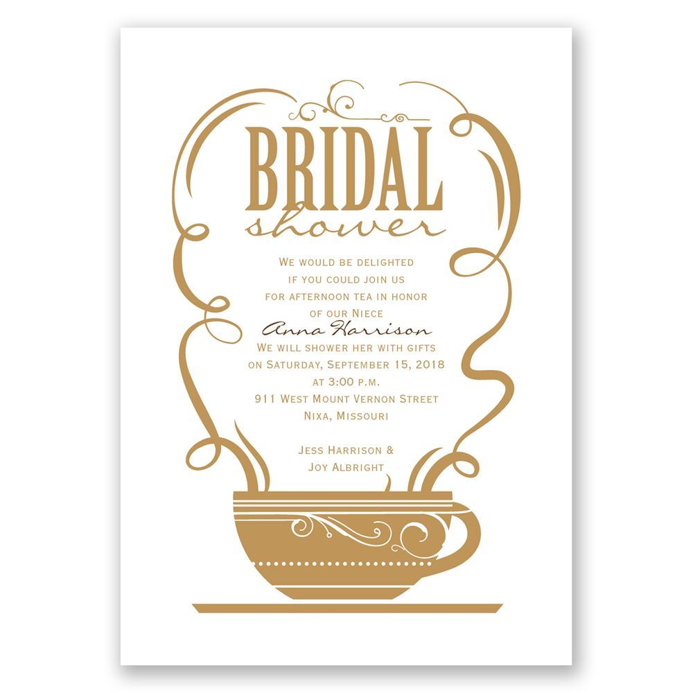Coffee Talk Bridal Shower Invitation Invitations By Dawn