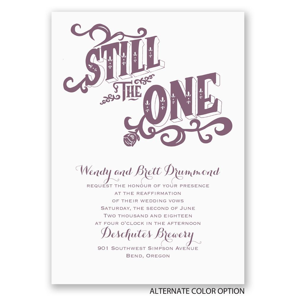 Still The One Vow Renewal Invitation Invitations By Dawn