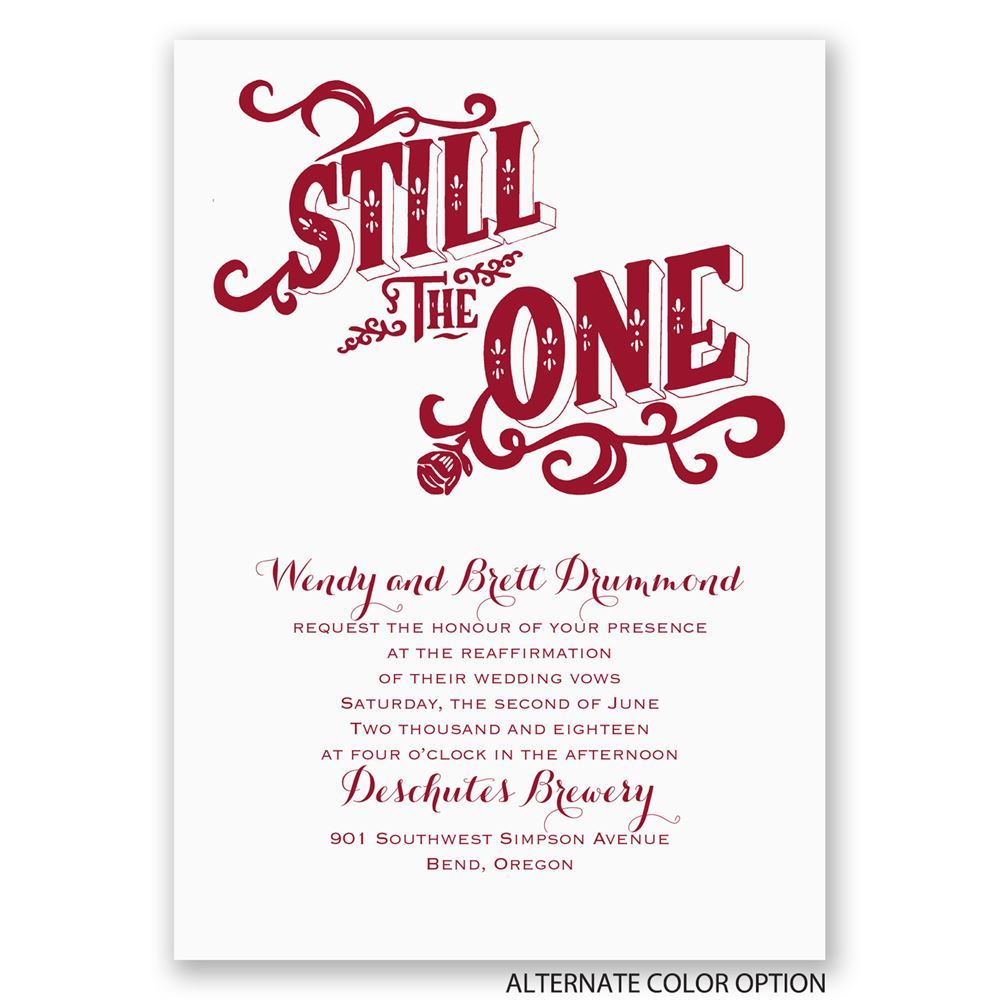 Still the One Vow Renewal Invitation | Invitations By Dawn