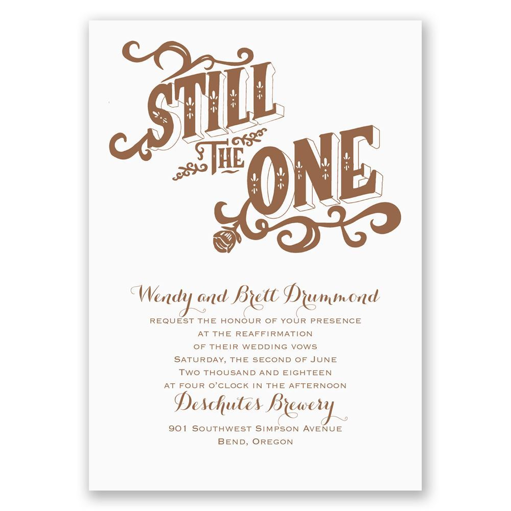 Still The One Vow Renewal Invitation
