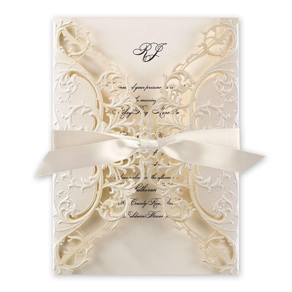 Most Expensive Wedding Invitations: Royal Details Laser Cut Invitation