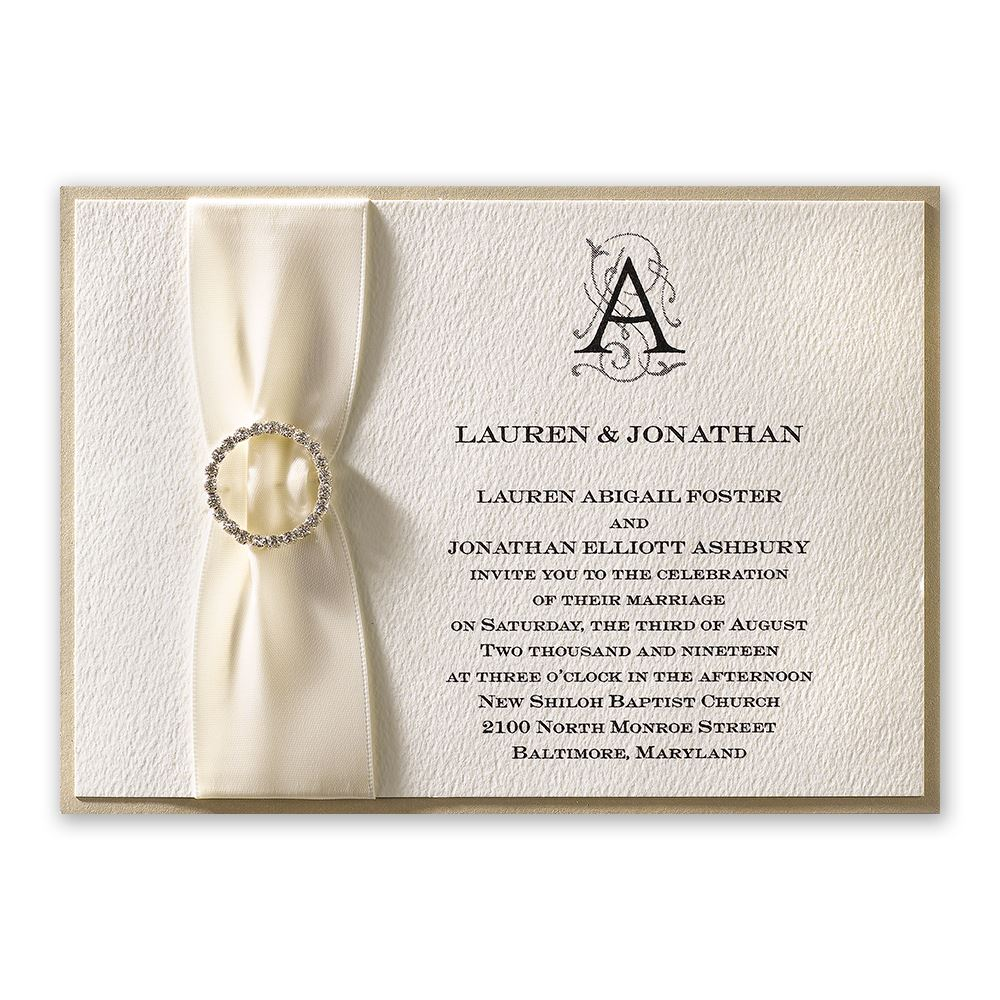 Luxe Details Horizontal Invitation Invitations By Dawn