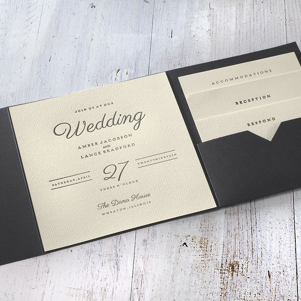 Modern Sophistication Pocket Invitation Invitations By Dawn