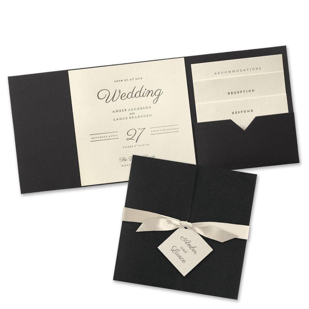 Modern Sophistication Pocket Invitation | Invitations By Dawn
