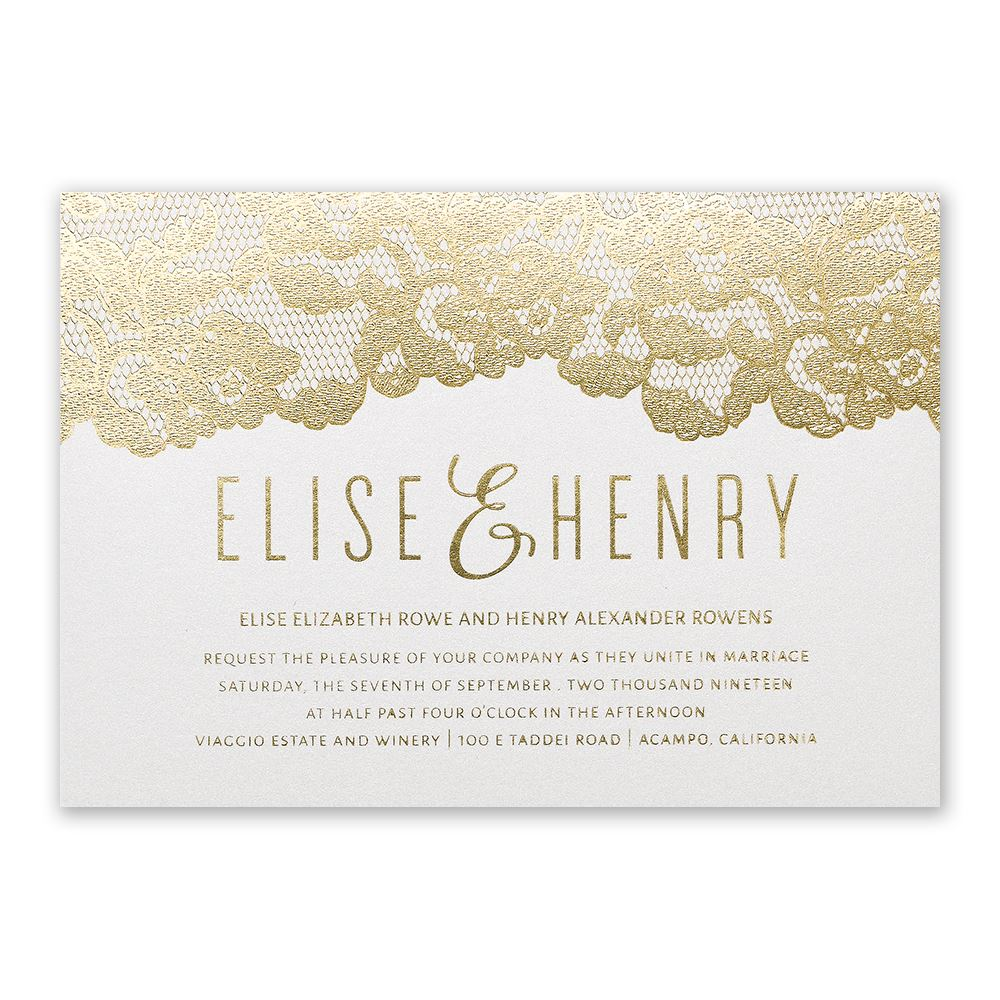 Typography Wedding Invitations | Invitations by Dawn