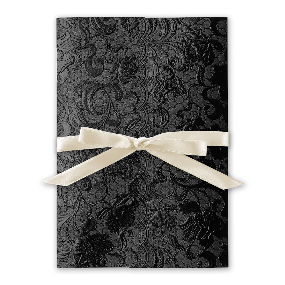 Wedding Invitations Ebony Vines Foil Invitation