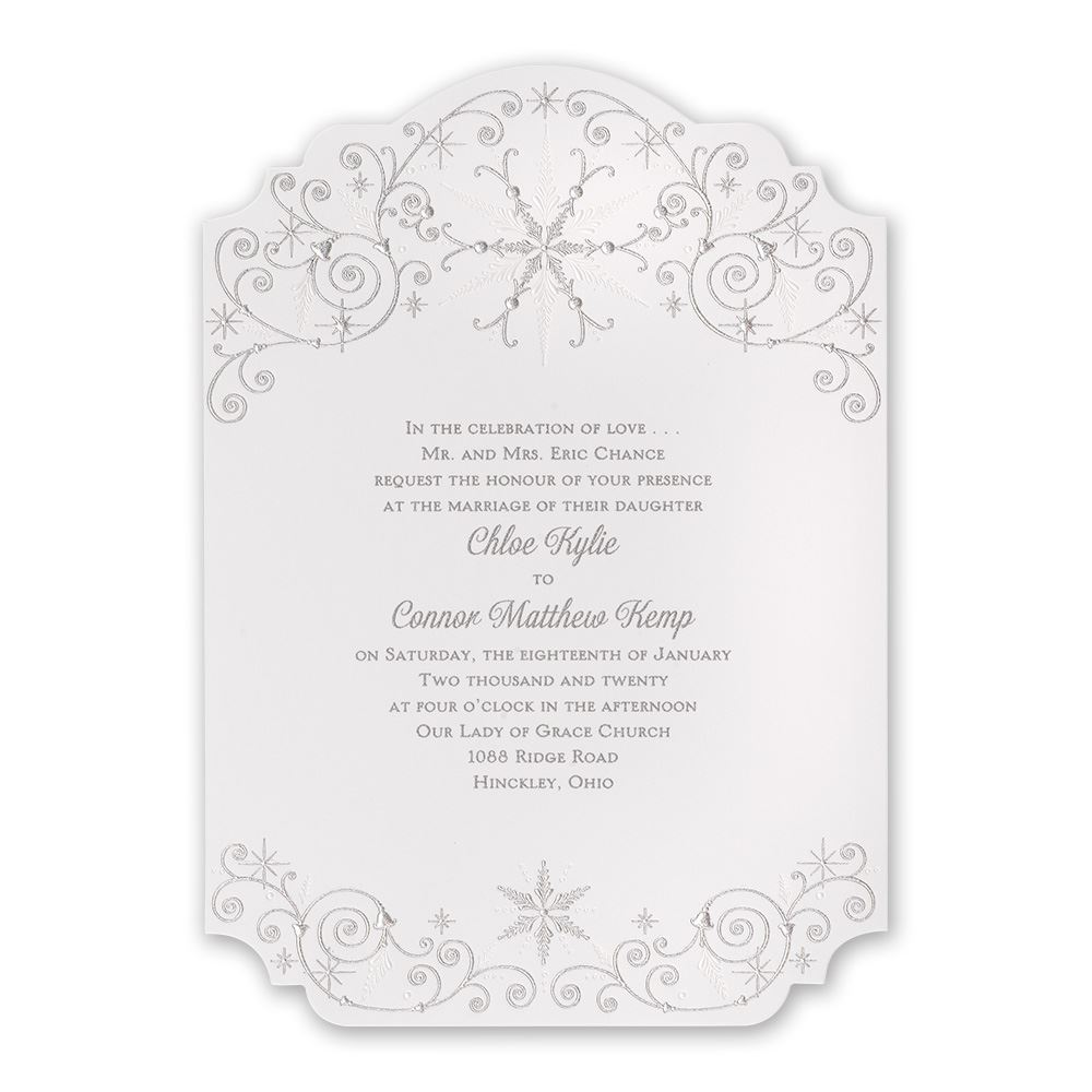 Disney Wedding Invitation: Disney Winters Beauty Invitation Elsa