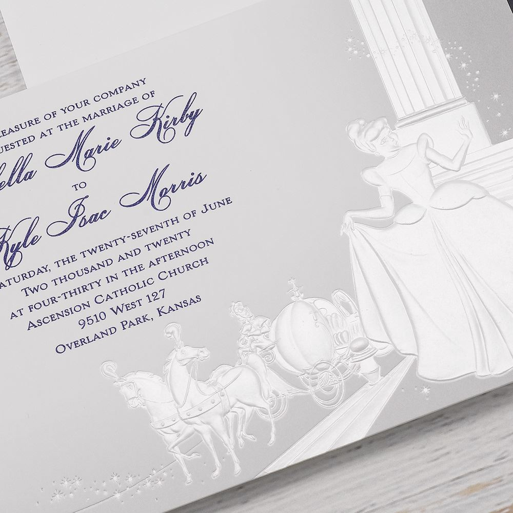 Disney Midnight Magic Invitation Cinderella Invitations