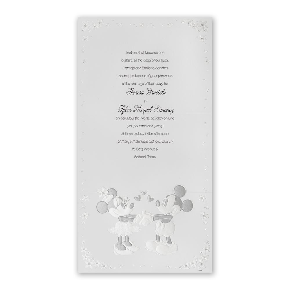 disney mickey and minnie invitation mickey mouse