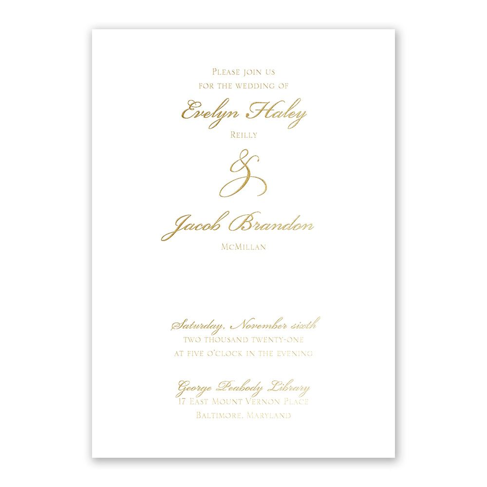 gilded beauty gold foil invitation invitations by dawn