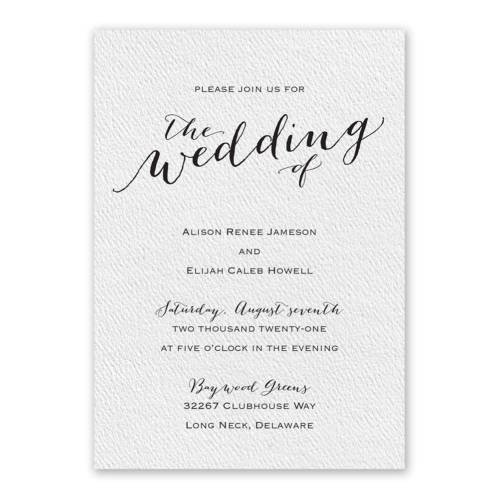 Traditional Wedding Invitations – Traditional Wedding Invite