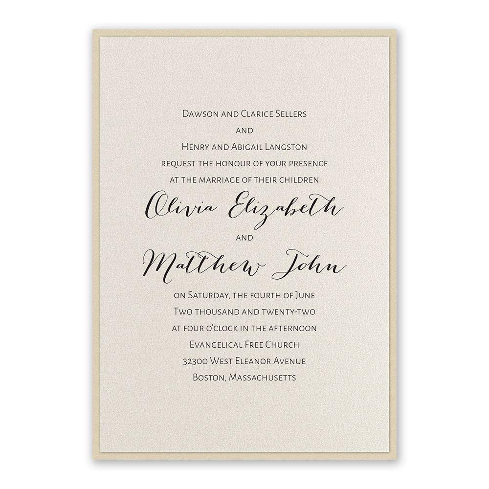 Elegant Wedding Invitation Templates: Layered Elegance Invitation