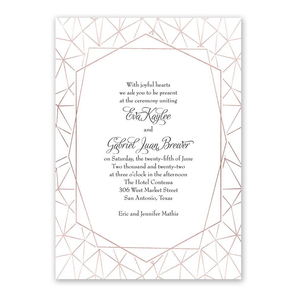 Clean Lines Foil Invitation