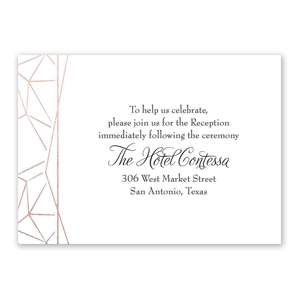 Clean Lines Foil Reception Card