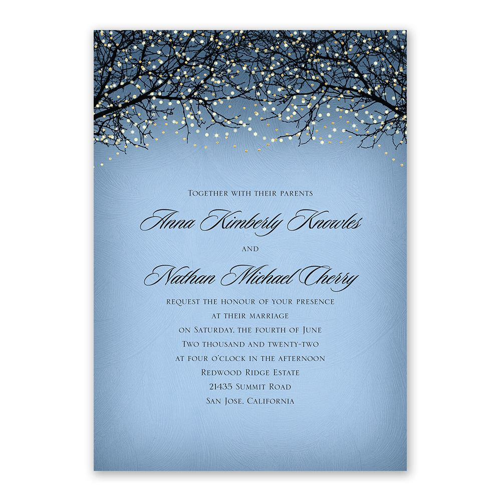 Fairytale Sky   Foil Invitation