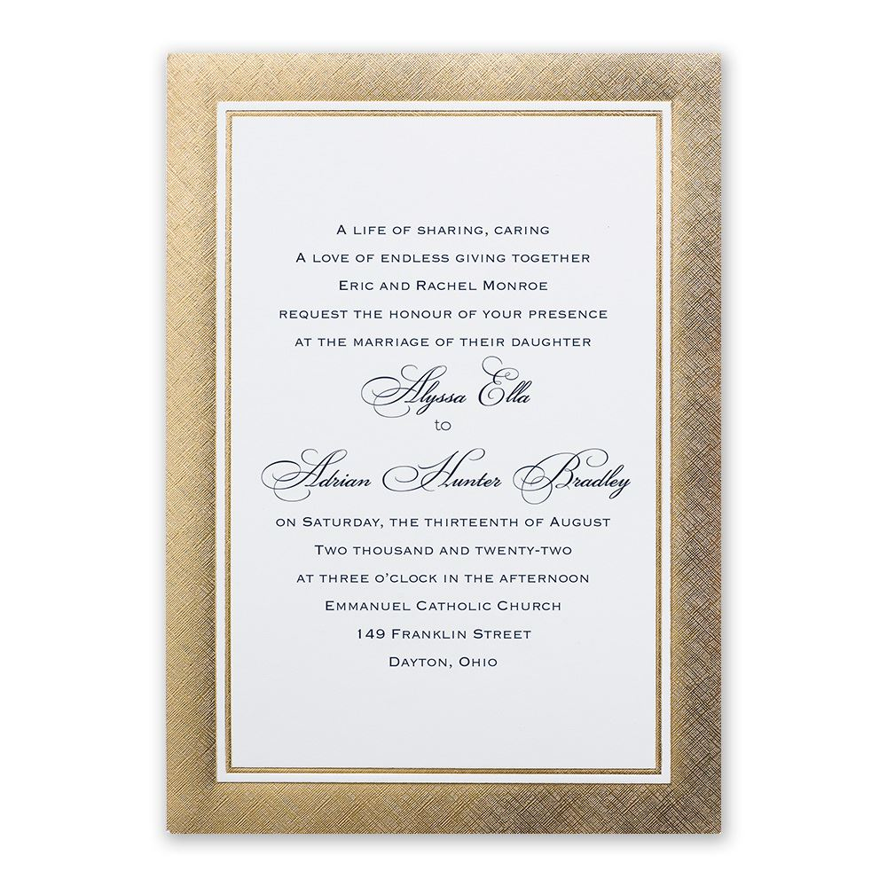 golden grandeur invitation invitations by dawn
