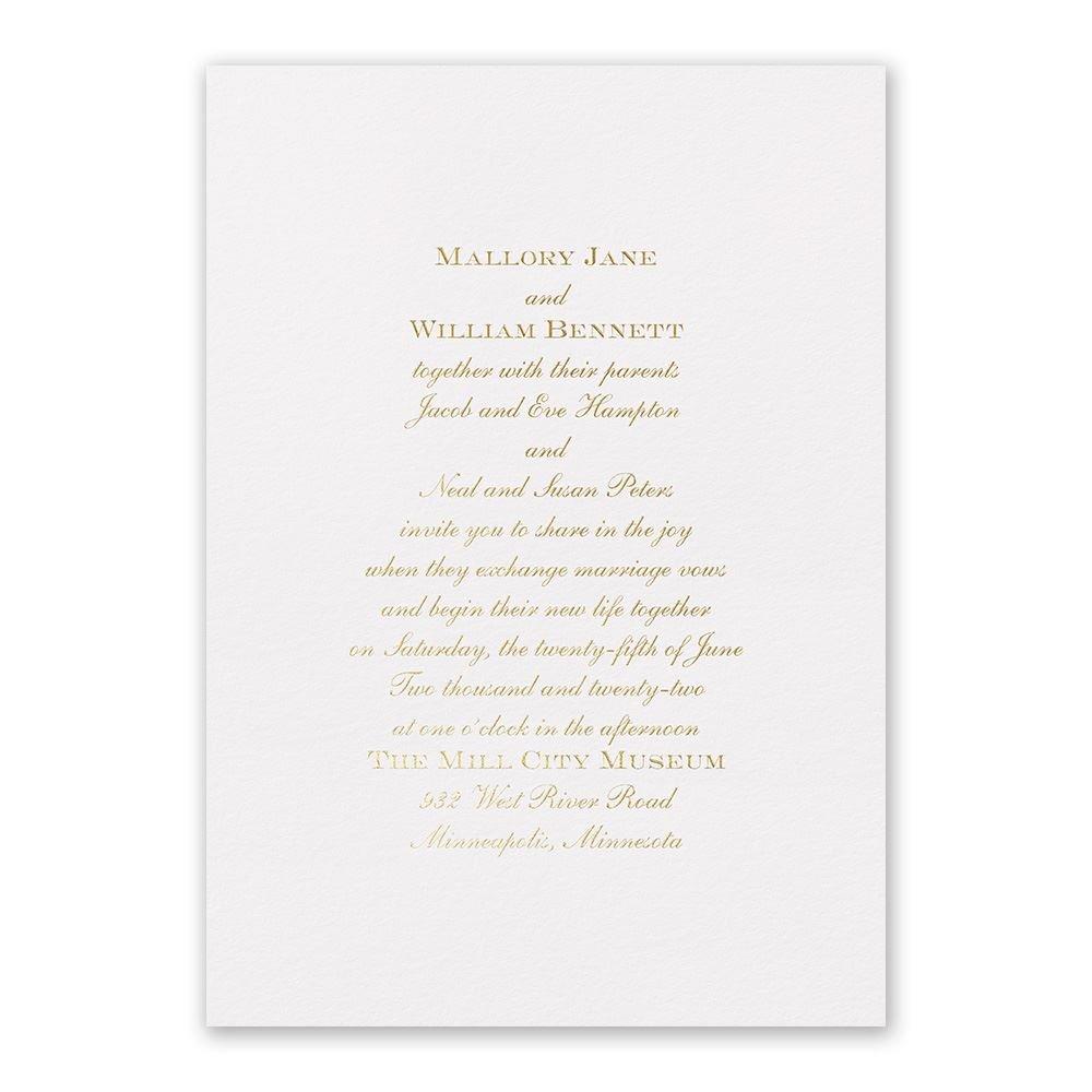 Flawless Foil Invitation | Invitations By Dawn