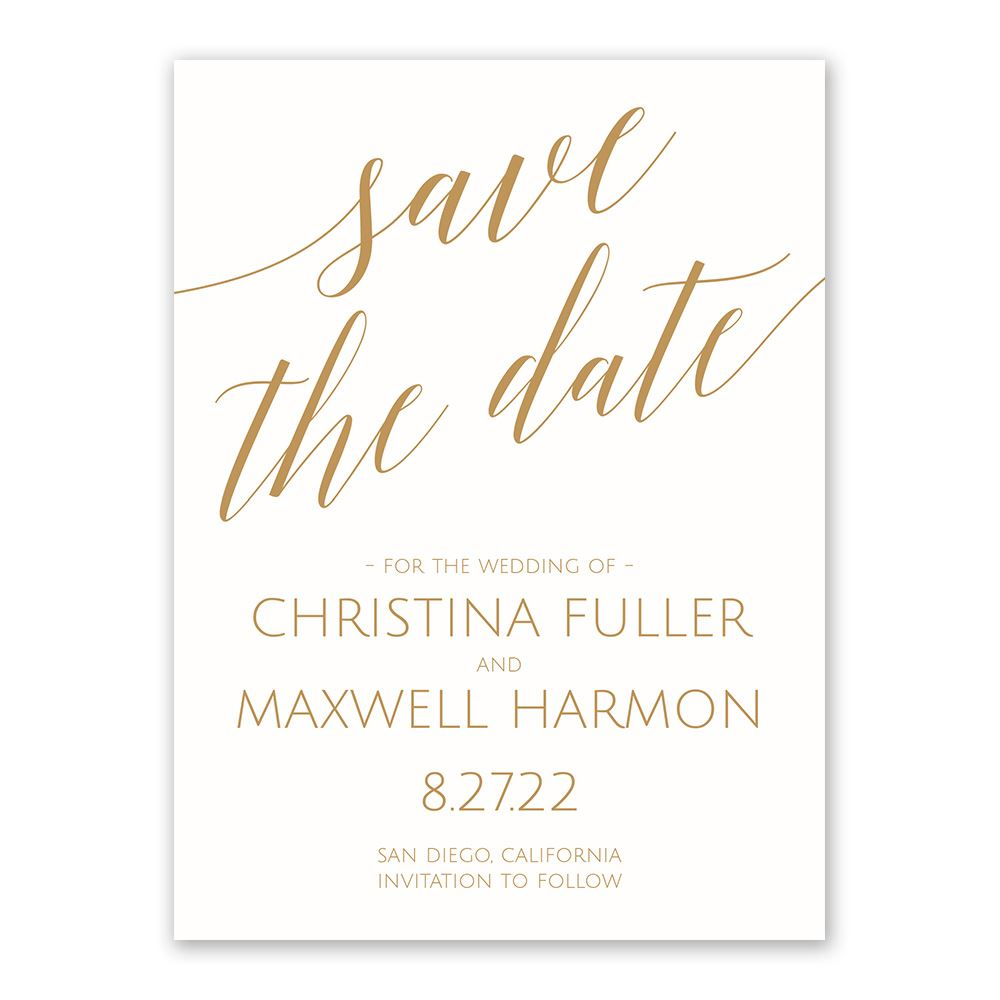 When Should Save The Dates Be Sent: Swept Away White Save The Date