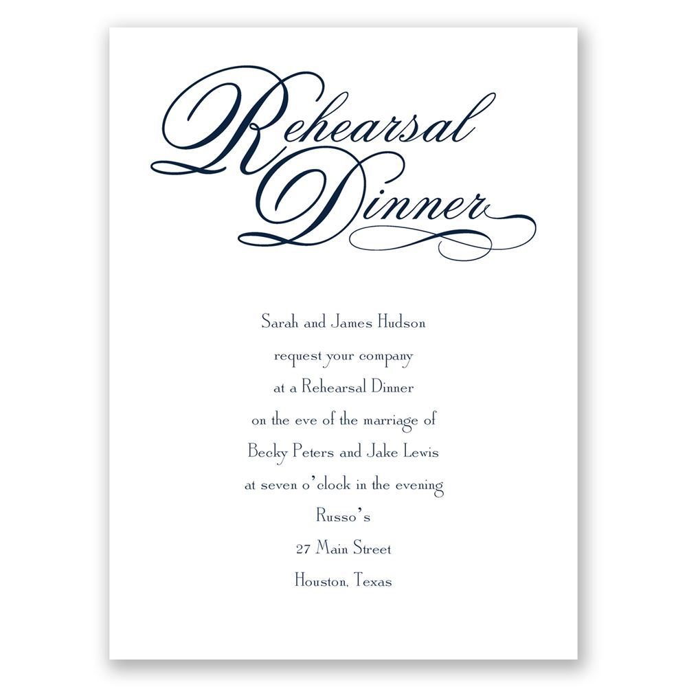 Rehearsal Dinner Petite Invitation Invitations By Dawn