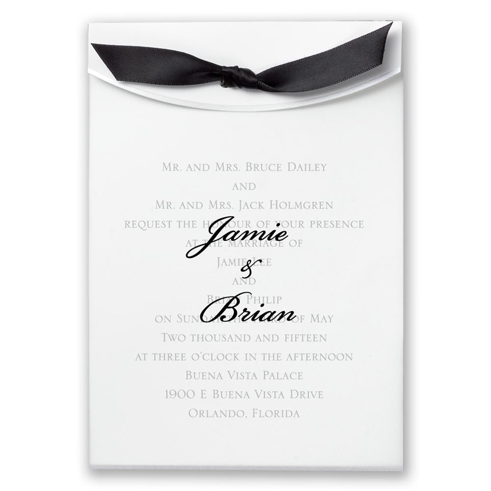 Pure Elegance Invitation | Invitations By Dawn