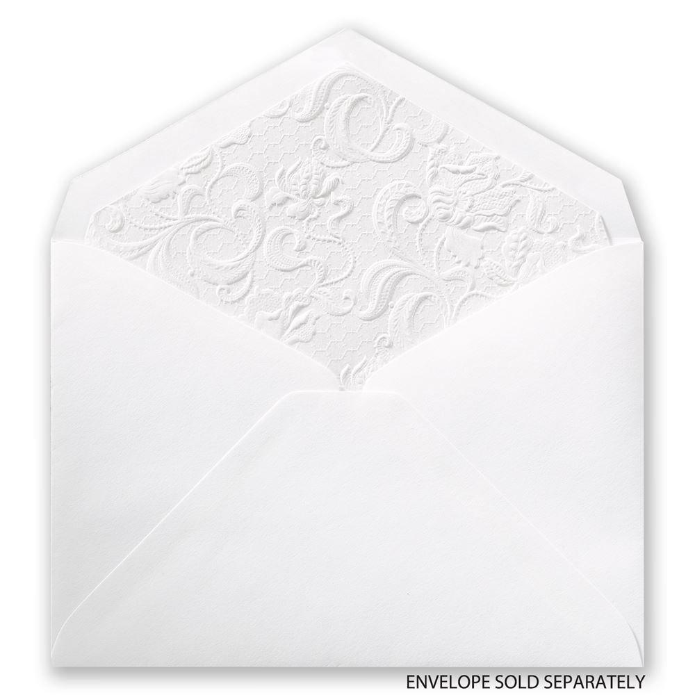 Embossed Floral Pearl Envelope Liner | Invitations By Dawn