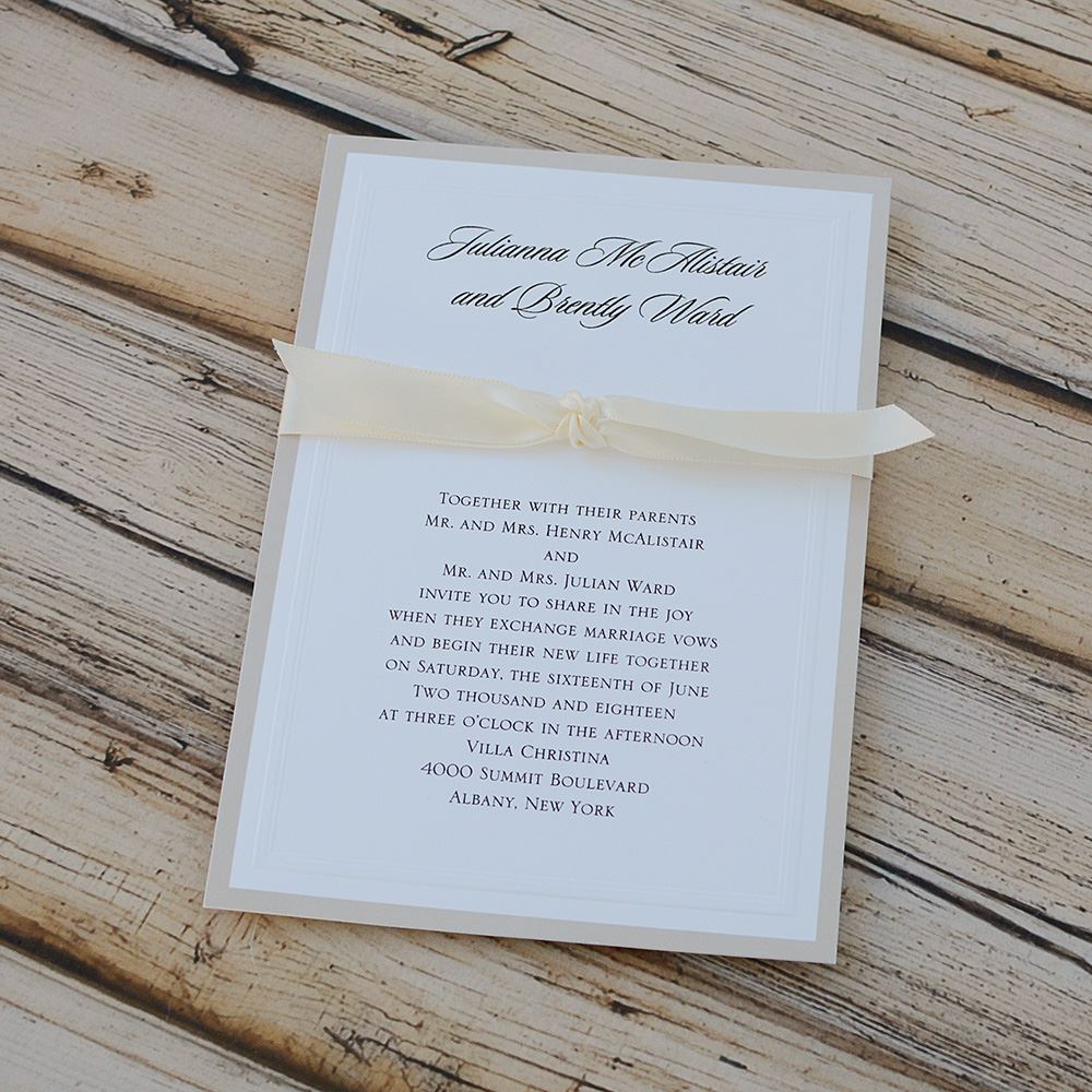 Sophisticated Border Invitation | Invitations By Dawn