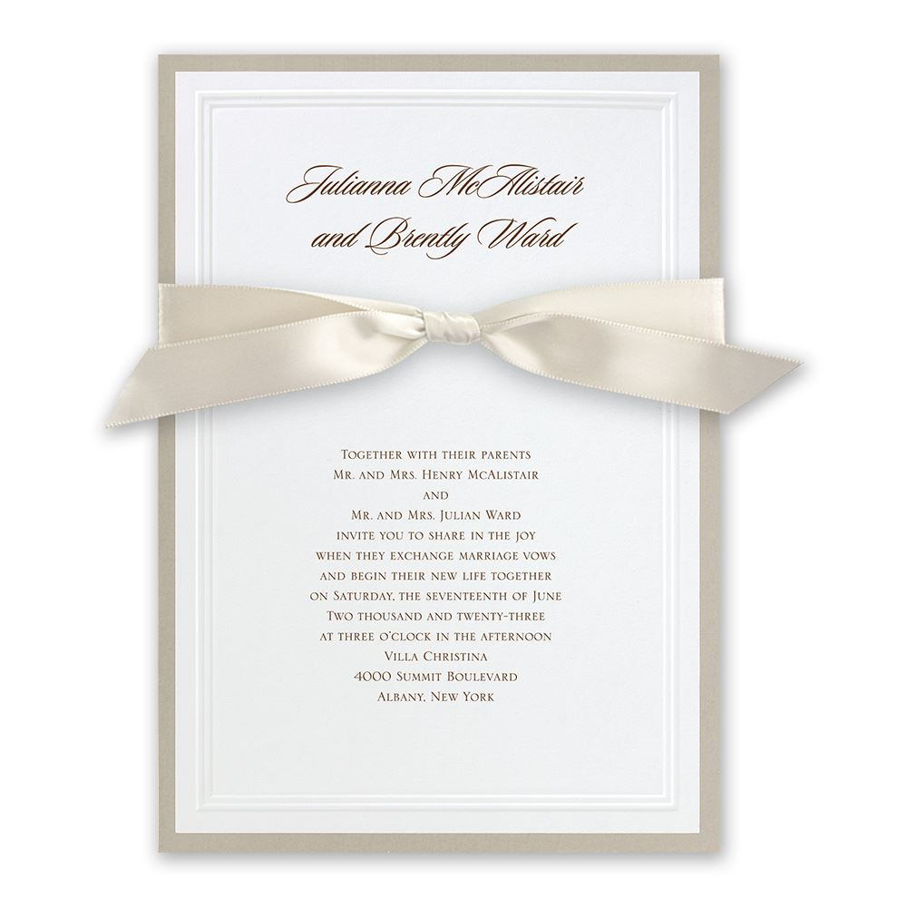 elegant wedding invitations sophisticated border invitation - Simple Elegant Wedding Invitations