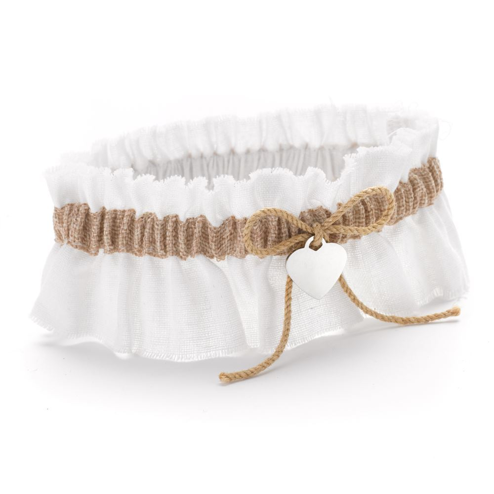 Why Two Garters For Wedding: Burlap Beauty Wedding Garter