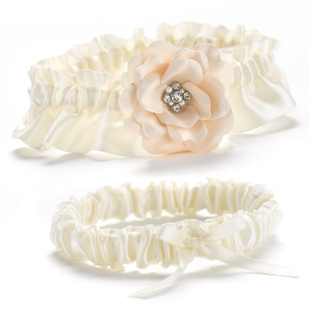 Beautiful Blossom Wedding Garter Set
