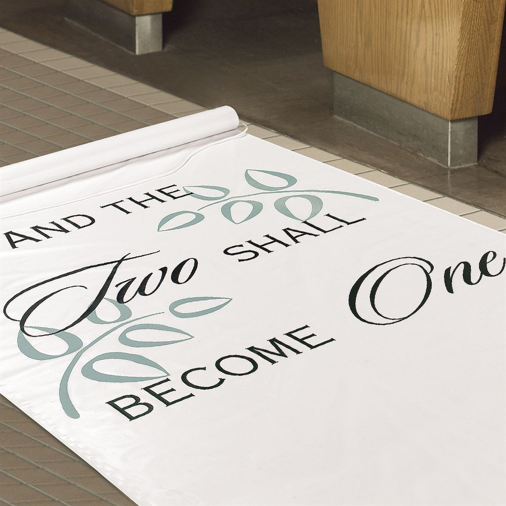 two shall become one aisle runner wedding aisle runner Two Shall Become One Aisle Runner