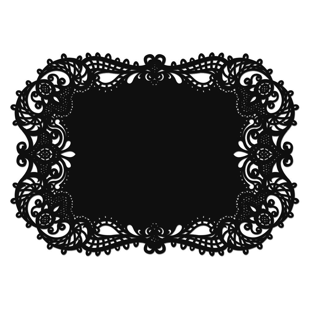 Laser Cut Placemats Black Invitations By Dawn