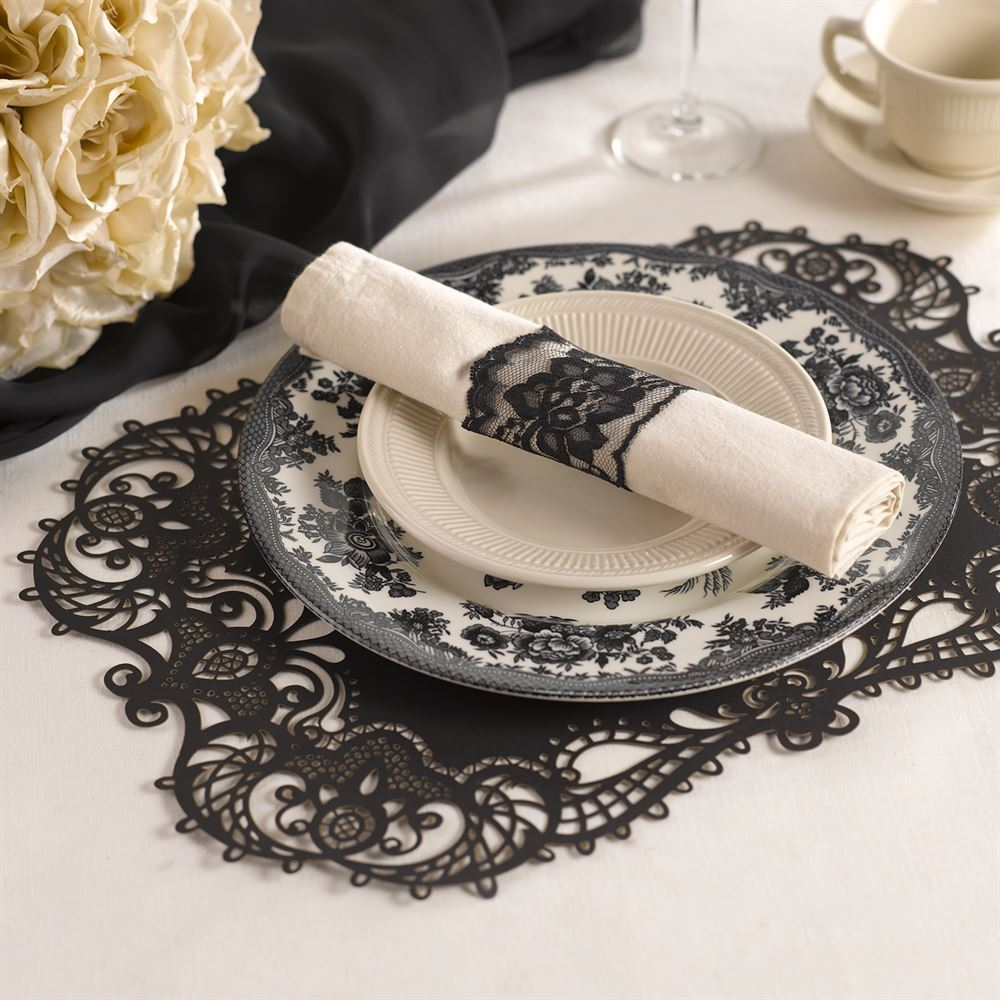 laser cut placemats black