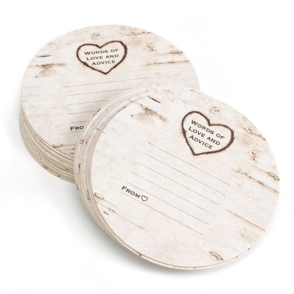 Birch Tree Advice Coasters | Invitations By Dawn